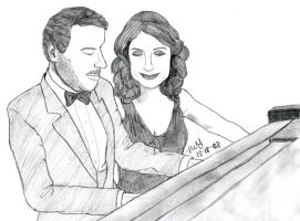 Gregory House and Lisa Cuddy by LivRavencroft