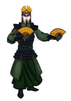 Kyoshi Warrior Ozai by weirdlet