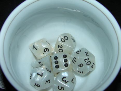 My dice by Larinne