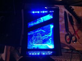 Rainbow Dash Xbox LED Mod by xYounger