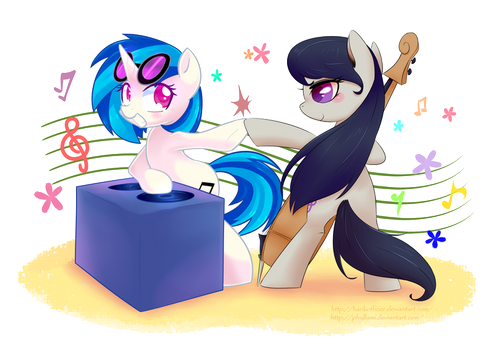 [Collab] Vinyl Scratch and Octavia by HankOfficer