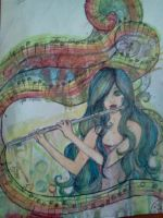 Euterpre, Muse Of Song by MelodicArtist