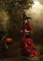 Witch in red by CindysArt