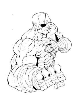 Sagat Ink by ShaneLongshadow