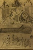 Romeo and juliet sketch by CharlieJacksonPaine3