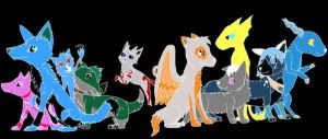 A Group Picture-Inverted Color by SkyfersSpirit