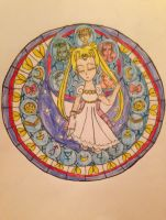 Princess Serenity's Stain Glass Window by Camilia-Chan