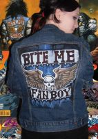 Lobo bite me fanboy jacket by Gothicpug