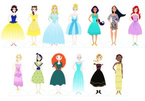 Disney Paper Dolls Example Sheet by spicysteweddemon