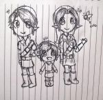 Link, Link and Link sketch by reddishpirate0614