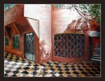 tiled floor and house by tamino