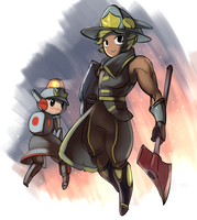 Patty meets Fireman Guy by stupjam