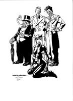 Gotham Rogues by Kevin Nowlan by kendiwan1987