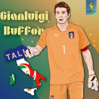 Gianluigi Buffon World Cup 2014 by dicky10official