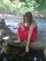 Girl sitting by the water by EmKins-Resources
