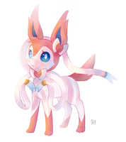 Sylveon by LunarThunderStorm