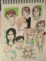 NANO CHARACTER SKETCHES 1 by HaleyKlineArt
