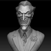 Joker Bust WIP by EvilHayato