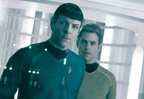 Kirk and Spock by BlackLeatherAgiel
