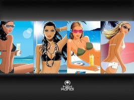 Hed Kandi wall - Beach by baiyoo