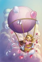Birthday balloon by Sabinerich