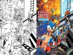 Sonic the Hedgehog 257 Variant Cover by herms85