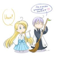Chobits crossover by Elruu