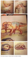 Dinosaurs - dawn to extinction sketches by Dedasaur