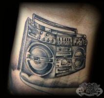 Boombox by state-of-art-tattoo