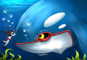 My friend, Kyogre by KeNtAmAkOtO