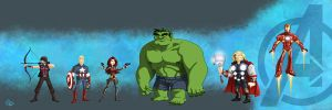 Avengers lineup by Erich0823