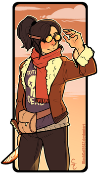Commission -  Henna in Street Clothes by BlackCat5643