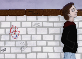 prompt 5-'Writing on the Wall' by Zatanna89