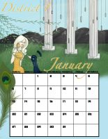 Districts of Panem 2013 Calendar: January, D1 by evanesce24
