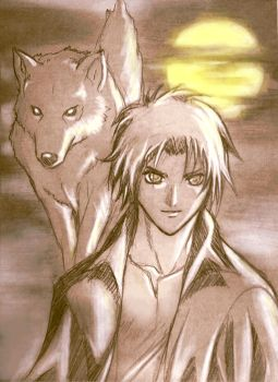 Kiba from Wolf's Rain by BrandonFranklin