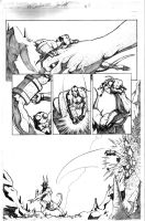 Hellboy Crucifixtion Page 2 by acarabet