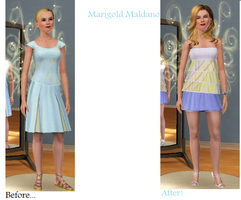 Sims Makeover: Marigold Maldano by Soraply11