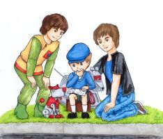 Boys and their Tin Dogs by FireFiriel