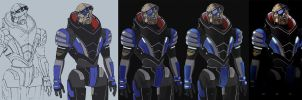 Garrus Vakarian 4 steps by Dolmheon
