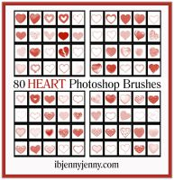80 Free High Quality HEART Photoshop Brushes by ibjennyjenny