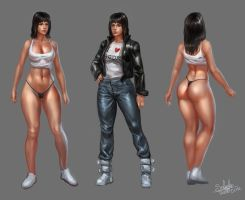 Female Character Concept by SaturnoArg