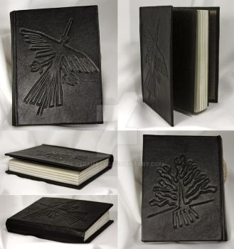 Leather-bound journal Nazca lines by Yerahatte