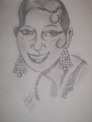 Josephine Baker by ChocolateHoneybee tagged as: #Josephine Baker #dancer #women of color