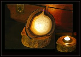 Candle holder by beelzebubby