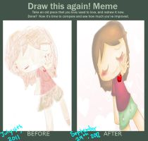 Draw this again meme by KirbyFangirl