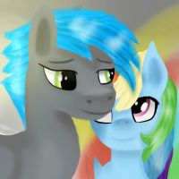MLP - Siwy and Rainbow Dash [commission] by FrozenTear7