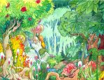 Jungle Book backdrop - forest by mementomoryo