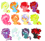Female Foal Auction adopts CLOSED. by Yumi-Kitten