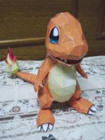 Charmander Papercraft by nyanperona-chu