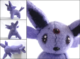 Espeon Plushie by CraftKiwi